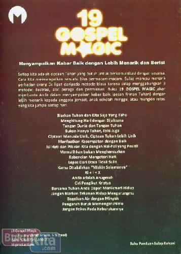 Cover Belakang Buku 19 Gospel Magic