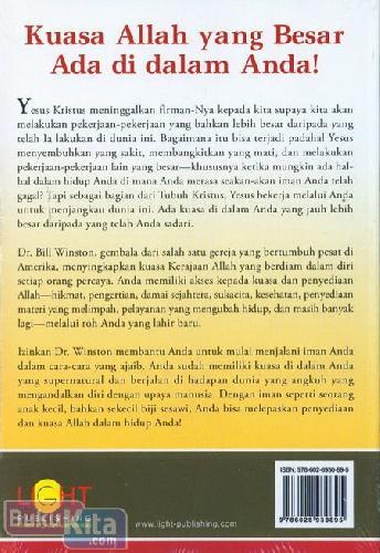 Cover Belakang Buku Kerajaan Allah di Dalam Anda : Menemukan Kedahsyatan di dalam Kuasa Tuhan