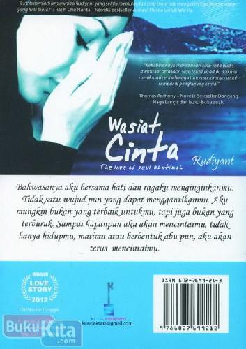 Cover Belakang Buku Wasiat Cinta : The Love of Suul Khotimah