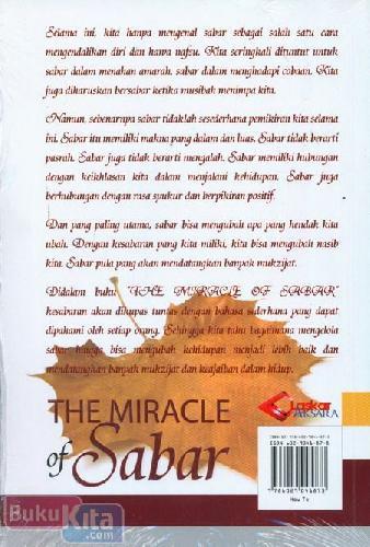 Cover Belakang Buku The Miracle of Sabar
