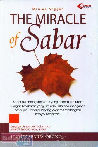 Cover Buku The Miracle of Sabar