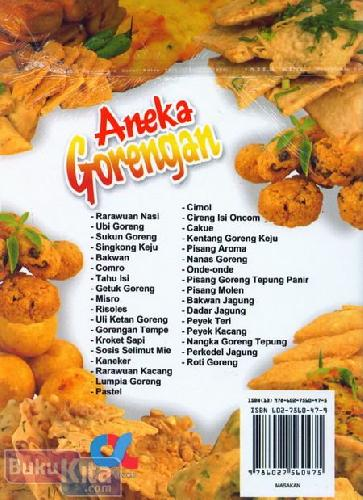 Cover Belakang Buku Aneka Gorengan (Full Color)