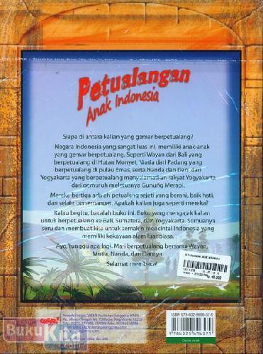 Cover Belakang Buku Petualangan Anak Indonesia