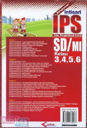 Cover Belakang Buku Rangkuman Intisari IPS SD/MI Kelas 3,4,5,6