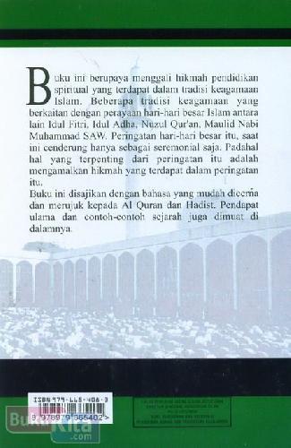 Cover Belakang Buku Pendidikan Spritual dalam Tradisi Keislaman