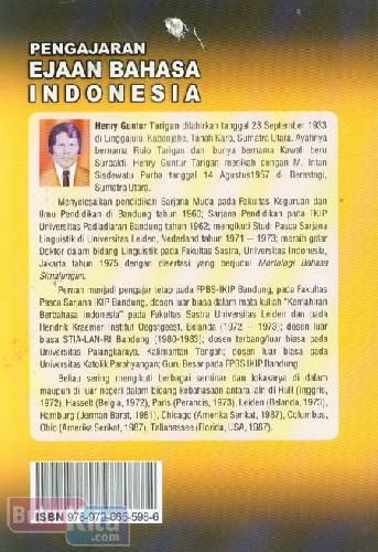 Cover Belakang Buku Pengajaran Ejaan Bahasa Indonesia