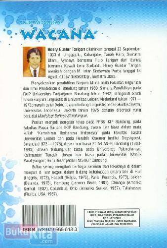 Cover Belakang Buku Pengajaran Wacana