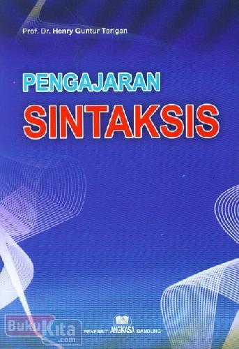 Cover Buku Pengajaran Sintaksis