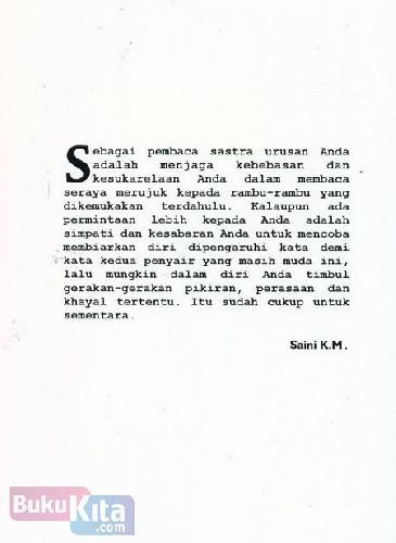 Cover Belakang Buku Persetubuhan Bathin Antologi Dua Penyair