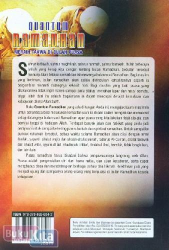 Cover Belakang Buku Quantum Ramadhan Meraih Takwa di Bulan Puasa