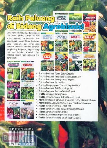 Cover Belakang Buku Praktis Bertanam Cabai Merah Keriting Organik Dalam Polybag