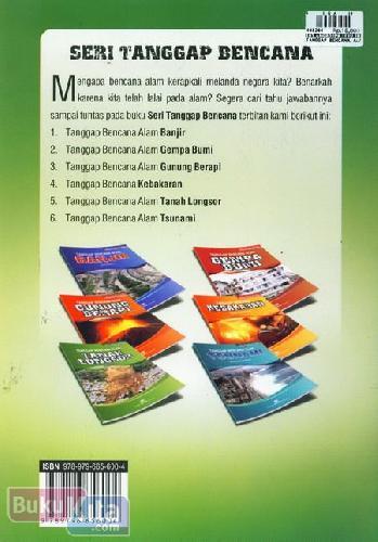 Cover Belakang Buku Tanggap Bencana Alam Tanah Longsor