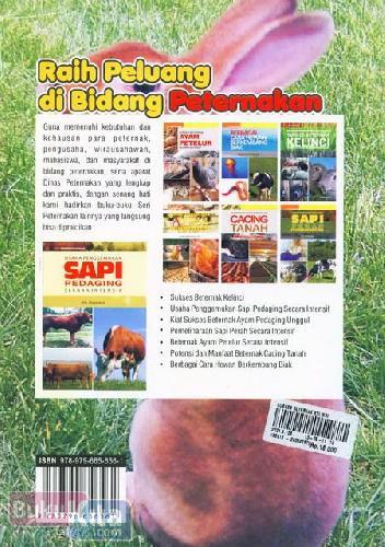 Cover Belakang Buku Sukses Beternak Kelinci