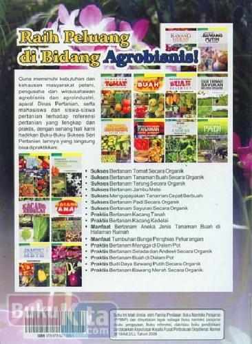 Cover Belakang Buku Manfaat Tumbuhan Bunga Penghias Perkarangan