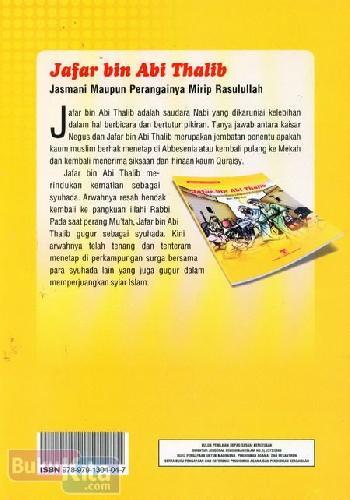 Cover Belakang Buku JafarbinAbiThalib:JasmaniMaupunPerangainyaMiripRasulullah