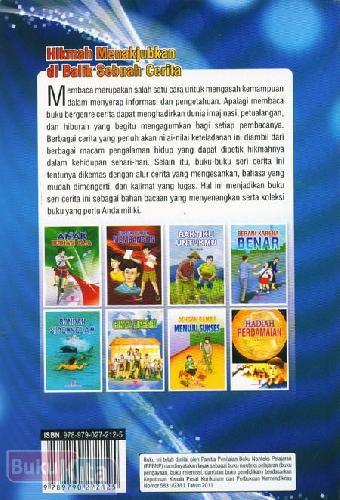 Cover Belakang Buku Budiman Anak yang Jujur