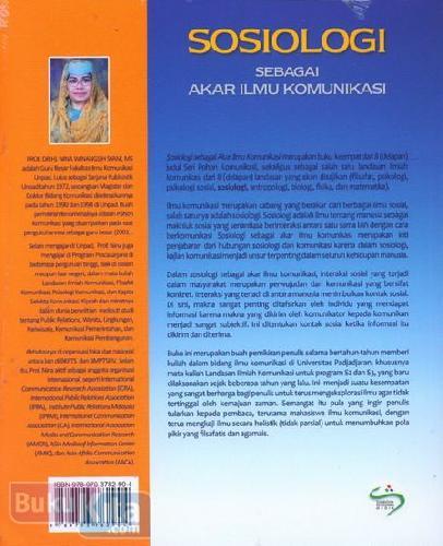 Cover Belakang Buku Sosiologi Sebagai Akar Ilmu Komunikasi
