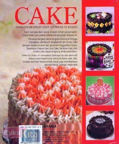 Cover Belakang Buku Cake : Panduan Membuat Cake Istimewa di Rumah