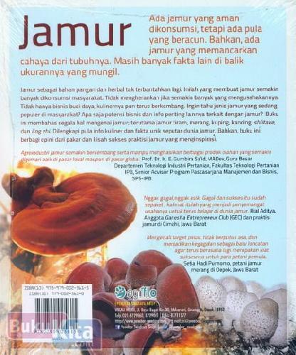 Cover Belakang Buku Jamur : Info Lengkap dan Kiat Sukses Agribisnis