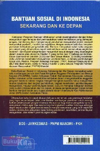 Cover Belakang Buku Bantuan Sosial di Indonesia Sekarang dan Ke Depan