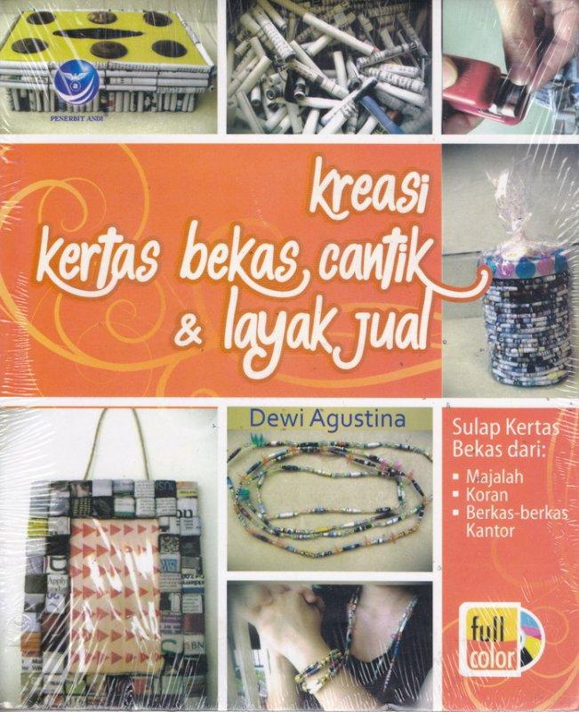 Cover Buku Kreasi Kertas Bekas Cantik & Layak Jual (Disc 50%)