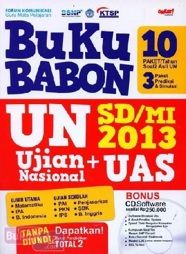Cover Buku Buku Babon Un SD/MI 2013
