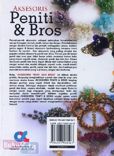 Cover Belakang Buku Aksesoris Peniti & Bros (Full Color)