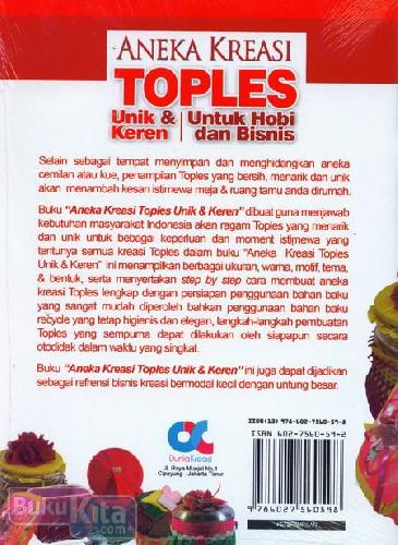 Cover Belakang Buku Aneka Kreasi Toples Unik & Keren