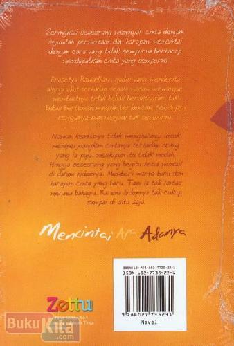 Cover Belakang Buku Mencintai Apa Adanya