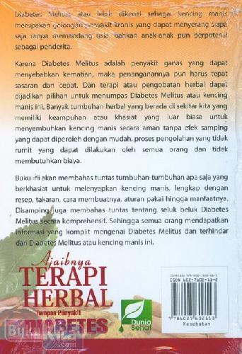 Cover Belakang Buku Ajaibnya Terapi Herbal Tumpas Penyakit Diabetes