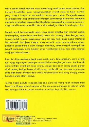 Cover Belakang Buku Aneka Keterampilan Anak dari Benda Alam