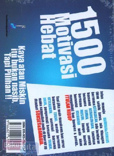 Cover Buku 1500 Motivasi Hebat
