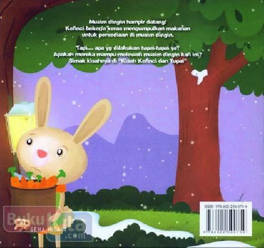 Cover Belakang Buku Kisah Kelinci dan Tupai