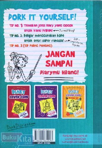 Cover Belakang Buku DIARY CEWEK CUPU 3 1/2 : Panduan Membuat Diary Cupu