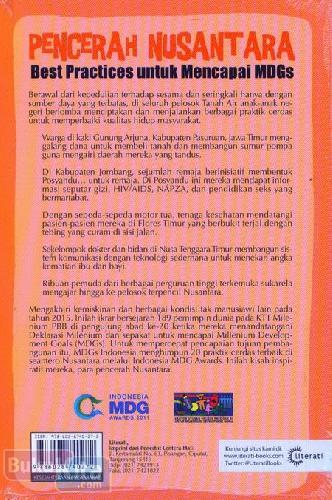 Cover Belakang Buku Pencerah Nusantara (Best Practices untuk Mencapai MDGs)