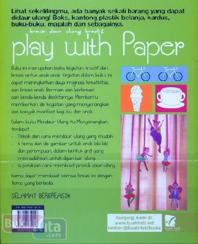 Cover Belakang Buku Kreasi Daur Ulang Kreatif Play With Paper