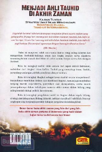 Cover Belakang Buku Menjadi Ahli Tauhid Di Akhir Zaman