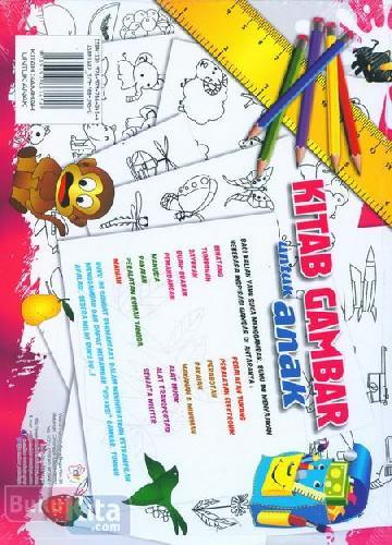 Cover Belakang Buku Kitab Gambar untuk Anak