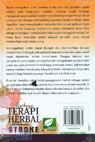 Cover Belakang Buku Ajaibnya Terapi Herbal Tumpas Penyakit STROKE