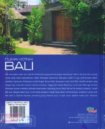 Cover Belakang Buku Rumah Etnis Bali