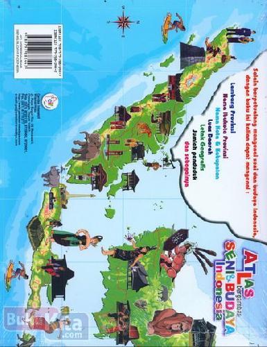 Cover Belakang Buku Atlas Bergambar Seni & Budaya Indonesia