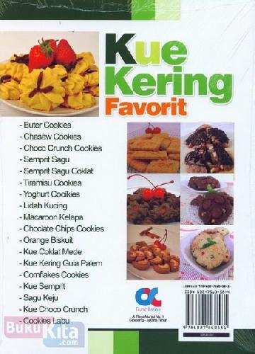 Cover Belakang Buku Kue Kering Favorit (Full Color)