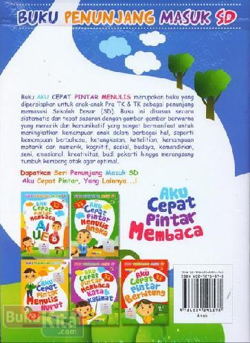Cover Belakang Buku Aku Cepat Pintar Membaca (untuk pra TK & TK) - Full Color