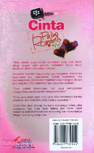 Cover Belakang Buku BBM-an Cinta Paling Romantis