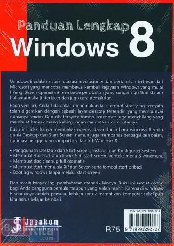 Cover Belakang Buku Panduan Lengkap Windows 8