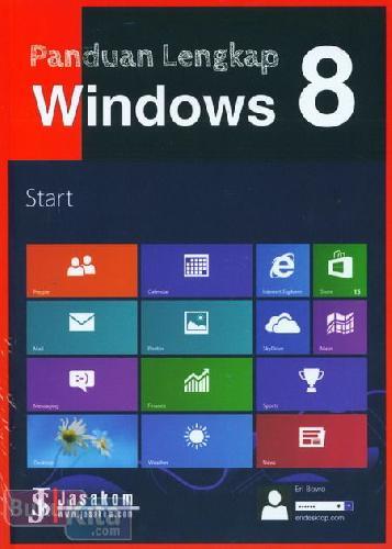Cover Buku Panduan Lengkap Windows 8