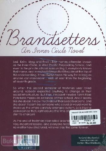 Cover Belakang Buku Brandsetters An Inner Circle Novel