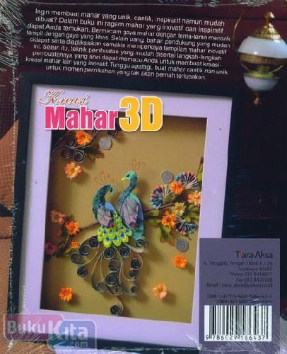 Cover Belakang Buku Kreasi Mahar 3D
