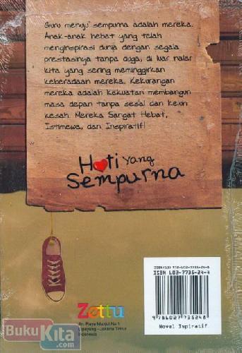 Cover Belakang Buku Hati Yang Sempurna