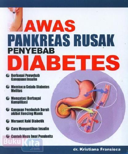 Cover Buku Awas Pankreas Rusak Penyebab Diabetes